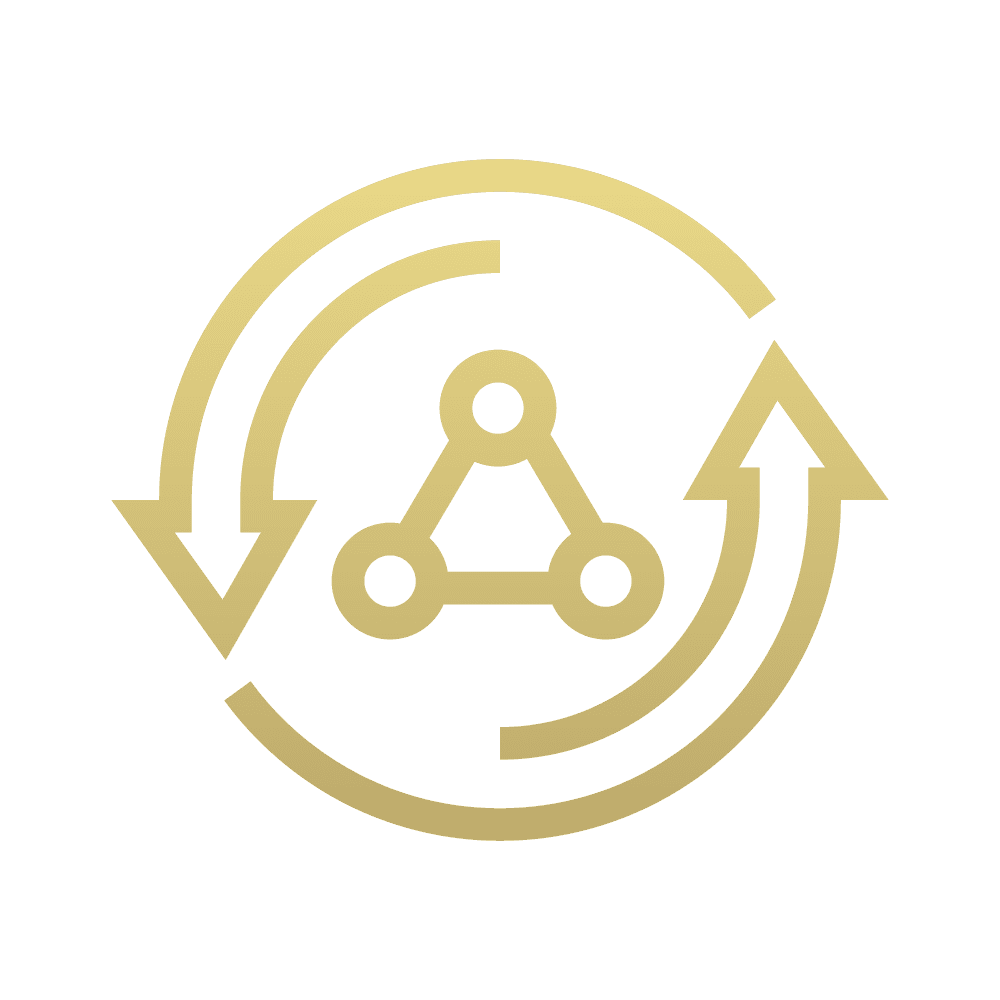 Continuous Software Delivery Gold Icon